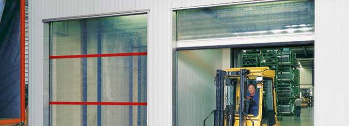 Внутренние и наружные скоростные ворота Hormann (с прозрачным полотном, для больших проемов)