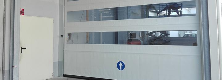 RoLLIZIP GLG самовосстанавливаемые скоростные рулонные ПВХ ворота