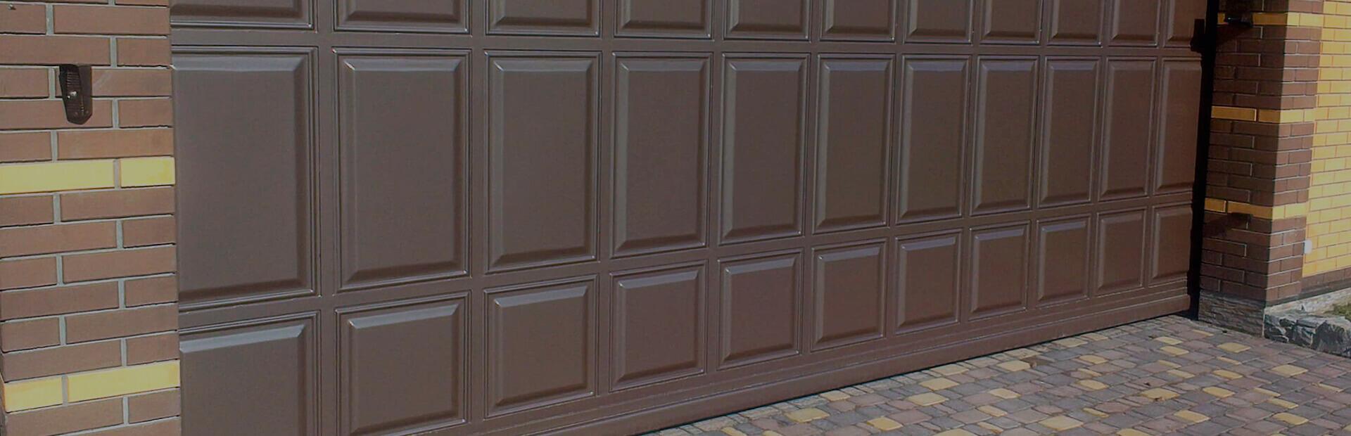 Откатные ворота металлические 1