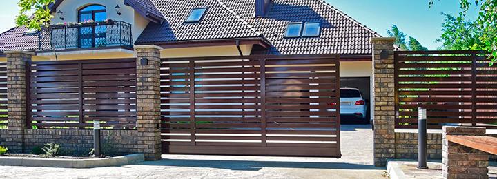 Алюминиевые откатные ворота PRESTIGE