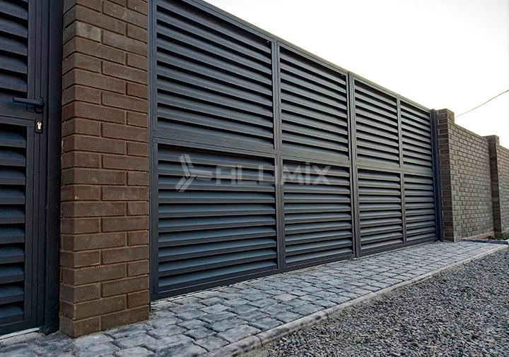 Распашные ворота и калитка для базы отдыха 2