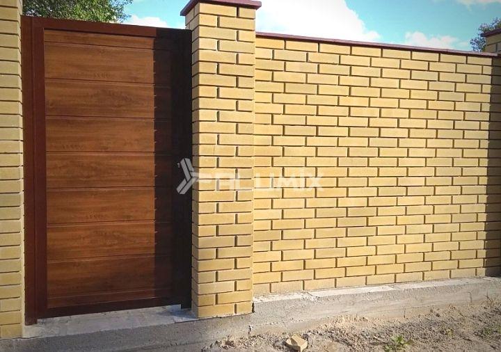 Откатные ворота и калитка для частного клиента 3