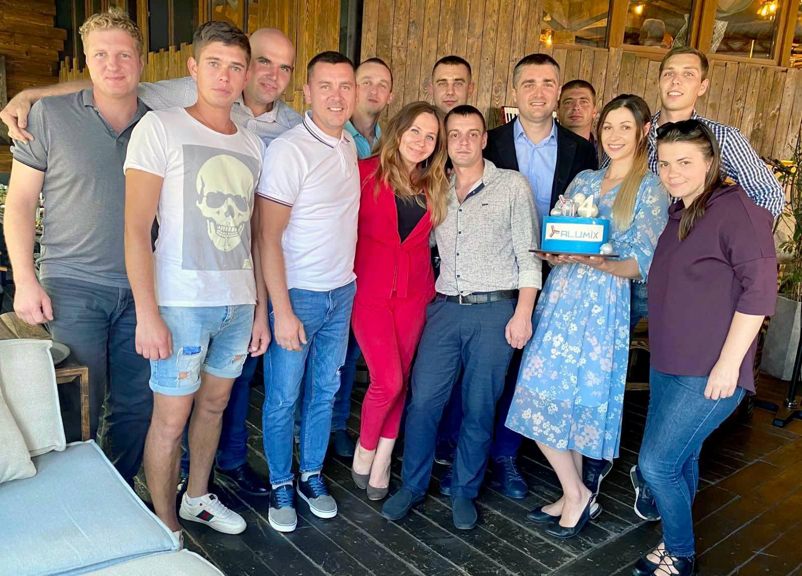 Киевский филиал компании «Алюмикс Украина» отметил свой День рождения!